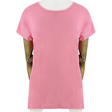 Balmain Candy Pink Luxuriously Soft Pure Cotton Top T-Shirt FR36 UK8
