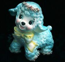 Mint! Vtg Easter Lamb Glazed Spaghetti Ceramic Hand Painted Planter+ Relpo Japan