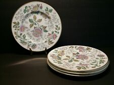"Set of 4 Wedgwood Avon W3983 Multicolor Salad Luncheon Plate 7-7/8"" - Excellent"