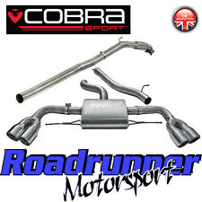"Cobra Sport Audi TTS MK2 2.0 Turbo Back Exhaust NonRes & Decat Downpipe 3"" AU34d"