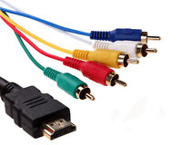 1.5m/5ft HDMI Male to 5 RCA Male HDTV 1080P Audio Video Component Adapter Cable