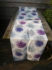 "JOHN LEWIS LINED PANEL  PRINTED FLOWERS BLUE PURPLE & GREY/BLUE 23"" X 90"" LONG"