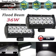 LED Work Light Bar 36W  7'' Inch Car Flood Offroad Lamp Wagon SUV/ATV 12V 24V