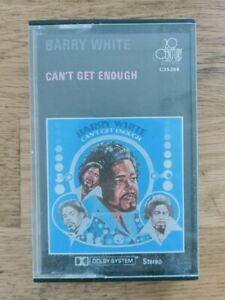 BARRY WHITE CAN'T GET ENOUGH CASSETTE TAPE free shipping