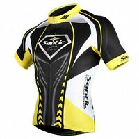Santic Men's Cycling Jackets Bike Bicycle Cycling Jerseys Short Sleeve L-3XL