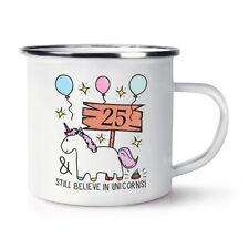 25th anniversaire crois encore licornes Rétro émail Tasse-Drôle Happy Cadeau