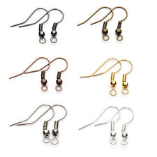 2000pcs / lot Fashion Iron Ear Hook Wire Clasp With Bead Charms,Earring(8 Style)