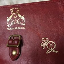 Vintage Coin Purse Red Velvet 1983 Ocean Pines Maryland 15yr Anniversary Rare