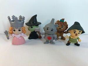 5 McDonalds  Wizard Of Oz Dolls 2013 Witch Tin Man Scarecrow Lion