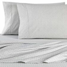 Micro Lush Microfiber Geometric Full Sheet Set in Light Grey