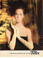 PUBLICITE ADVERTISING  1963   FILEX   gants nylon