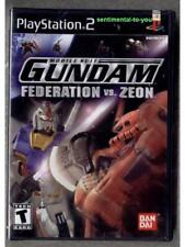 New SEALED Classic PS2 PlayStation BANDAI Mobile Suit Gundam FEDERATION vs ZEON