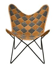 3D Bricks Chair Iron Stand With Leather Cover for Indoor Outdoor