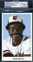 Eddie Murray Psa Dna Autograph  Team Issue Photo Authentic Hand Signed