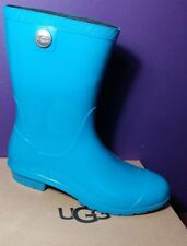 NEW UGG SIENNA Electric Blue Rain Boots Winter Sheepskin Insole Sz 9 1014452 USA