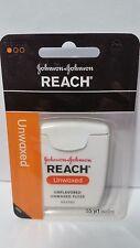 Reach Floss Unflavored Unwaxed 4 Pack Johnson & Johnson 55 yd Dental Floss