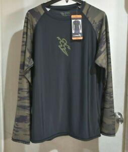Da Hui Mens Long Sleeve Rash Guard size select and colors