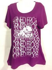 TCU Horned Frogs T Shirt Purple Campus Lifestyle Glittered Womans Large NEW