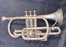 1892 Vintage Henry Distin Cornet Superior -  Silver Plated - Used