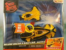 Speed Racer Deluxe Racer X Race Car & Racer X + Figure 2 Vehicers IN 1 !