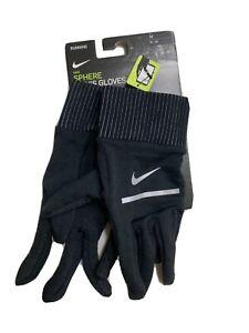 Nike Dri Fit Men's Sphere Running 2.0 Gloves Black/Silver, Medium