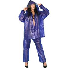 Thick, Soft Vinyl Rain Coat Suit With Trousers + Jacket M Cape Plastic PVC