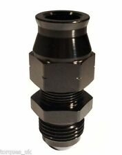 "AN -6 (6AN AN6) STRAIGHT Male To 1/4"" Tube Adapter In Black"