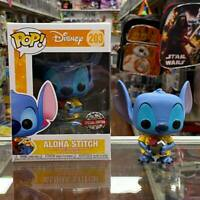 Funko Pop Disney Aloha Stitch Vinyl Figure Special Edition Exclusive with case