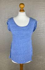 PATRIZIA PEPE Damen Gr. 2 / S 36-38 Shirt blau meliert Tshirt Top 4A3