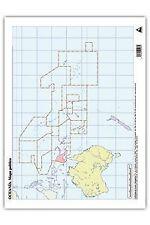 Paq/50 mapas oceania politico mudos. ENVÍO URGENTE (ESPAÑA)