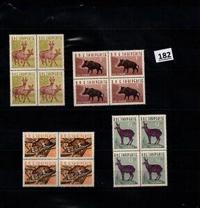 /// 4X ALBANIA - MNH - NATURE - WILD ANIMALS - DEERS