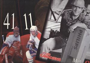 1995 1996-97 1997-98 1998-99 MONTREAL CANADIENS LINE-UP CARD NHL HOCKEY SEE LIST
