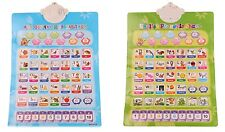 Russian & English 2-Sided Alphabet Letters Sound Wall Interactive Talking Poster