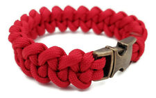 Paracord Bracelet 550 Black/Red/Blue Jawbone Tactical 550 U.S. Hand Made