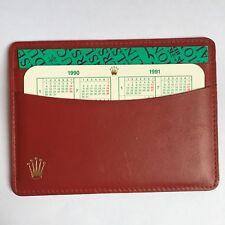ROLEX Genuine Card Warranty Calendar Holder with Explorer II y 1990 certificate
