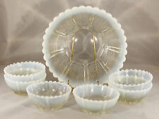 Vintage Northwood White Opalescent Drapery Berry set