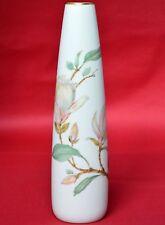 Hutschenreuther Porzellan Vase Blumenvase Goldrand Magnolien Blumen Höhe 27,5 cm