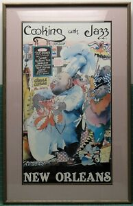 Vintage Cooking With Jazz New Orleans By Leo Meiersdorff Matted & Framed Poster