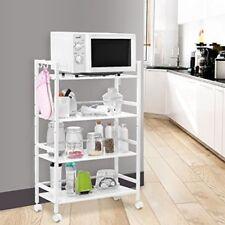 Shelving Rack 3 Layer Shelf Shelves Rolling Wheel Kitchen Storage Utility Cart