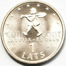 Latvia 1 lat 2004 Digger (Spriditis) UNC (#1316)