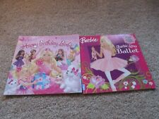 Lot of 2 Softcover Barbie Books, Happy Birthday, Ballet