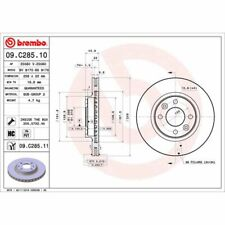 Bremsscheibe COATED DISC LINE BREMBO 09.C285.11