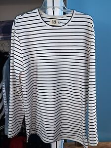 Richie Le Collection White/Black Striped L/S