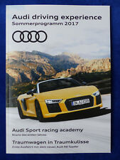 Audi driving experience Sommerprogramm 2017 TT RS R8 - Prospekt Brochure 01.2017