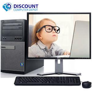 """Dell OptiPlex Desktop Computer PC Core i5 8GB 500GB Windows 10 Pro WIFI 19"""" LCD"""