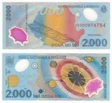 Romania 2000 Lei 1999 P-111b UNC Uncirculated Polymer Banknote - Solar System