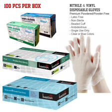 Vinyl, Nitrile Disposable Gloves Powder-Free/Powdered Medical, Food Latex-Free
