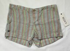 NWT Women's Roxy Distant Sun Striped Cuffed Shorts-Size 26