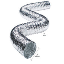 """NEW! ACE Silver/White Aluminum Dryer Vent Duct 4"""" x 20' ACEF0420B"""
