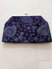 Purple Velvet Evening Clutch Bag